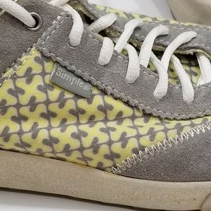 Gray & yellow Women's Simple brand sneakers size 9